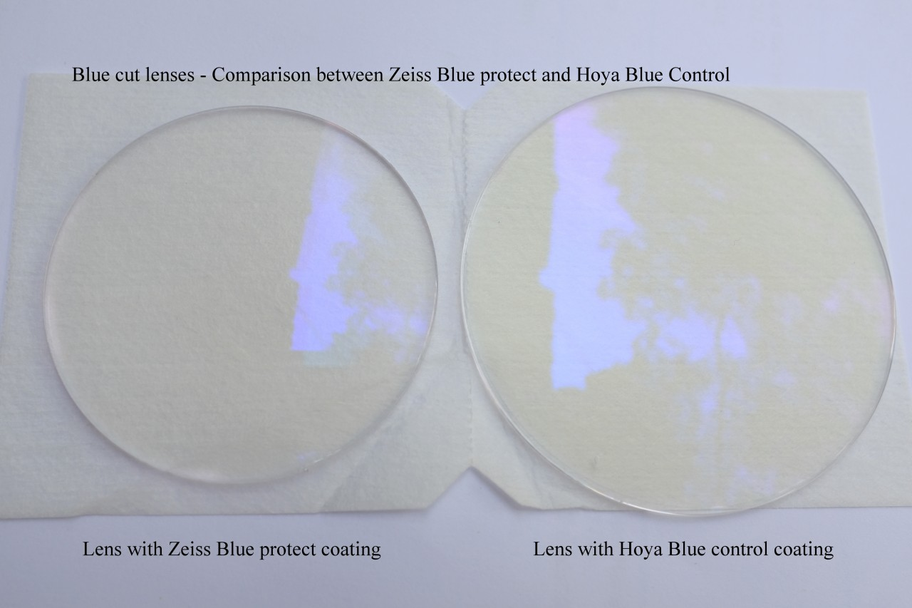 Hoya Blue Control vs Zeiss Duravision Blue Protect