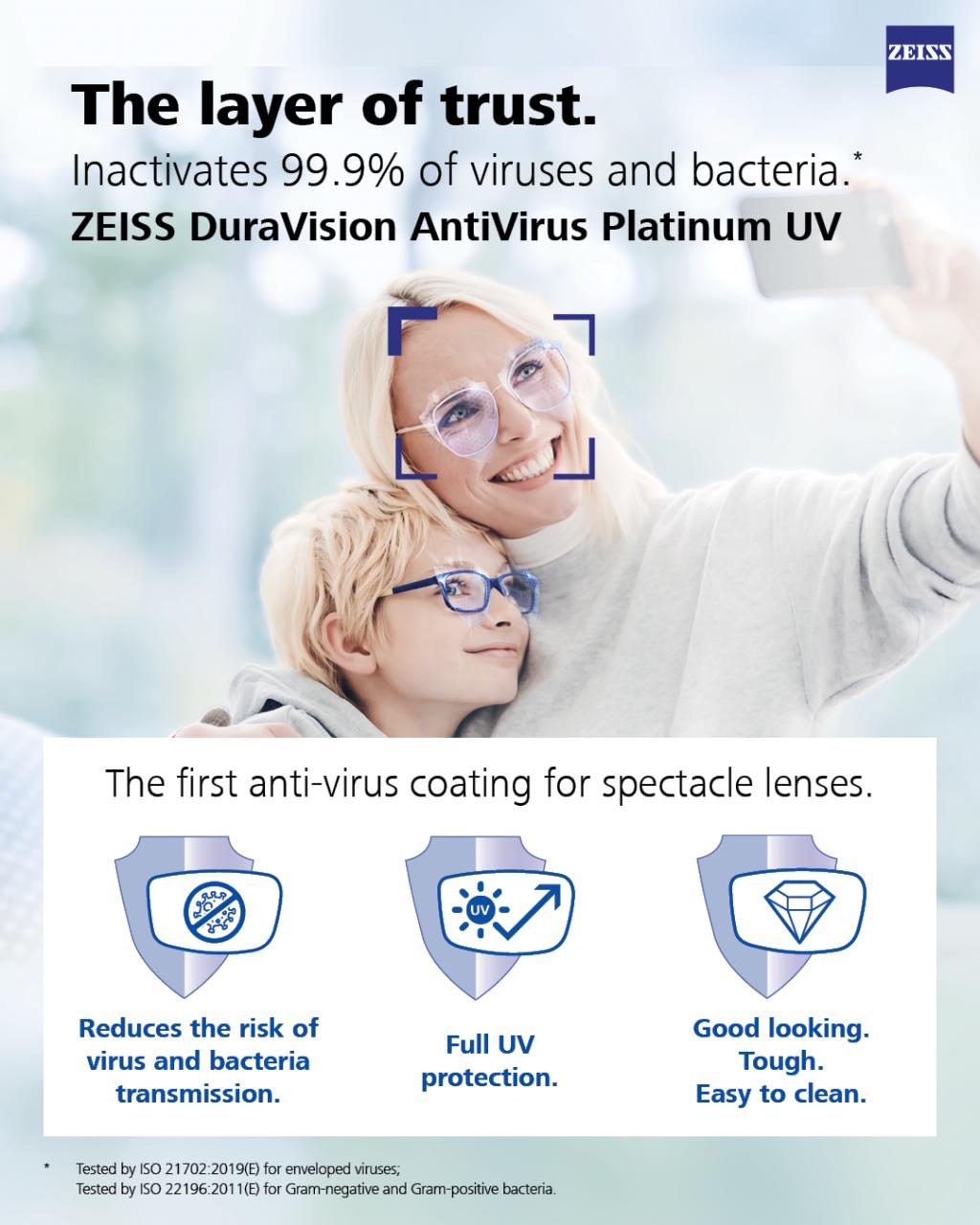 Zeiss Duravision AntiVirus Platinum UV