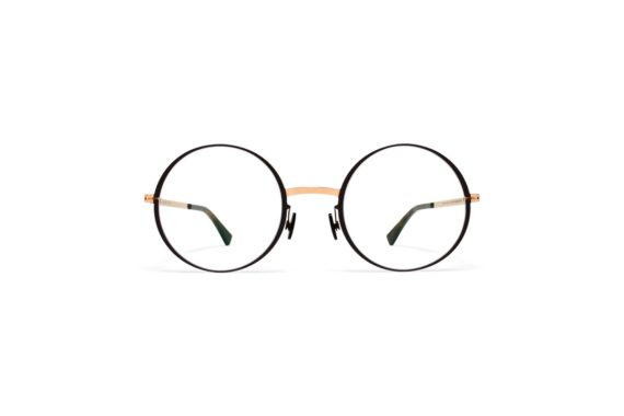 mykita-lite-acetate-rx-vilde-champagne-gold-dark brown evershineoptical